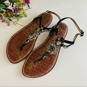 Sam Edelman Grayson Embellished Thong Sandals